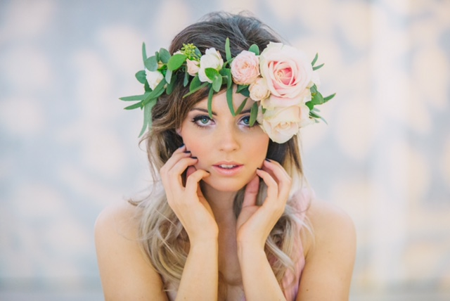 Pink Roses Girl -Bridal Hair and Makeup by Amazing Face Poole Dorset