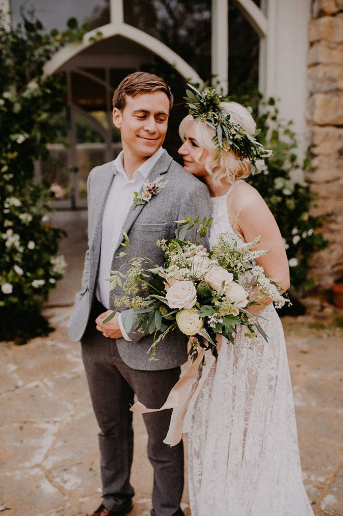 261c1788ea82 Earthy Bohemian Style for a Coastal Wedding in England